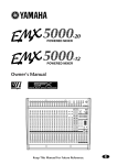 Yamaha EMX 5000-20 Owner`s manual