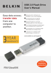 Belkin USB 2.0 FLASH DRIVE User`s manual
