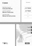 Canon ZR930 Instruction manual