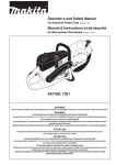 Makita EK7301 Operator`s manual