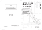 Casio CTK-240 User`s guide