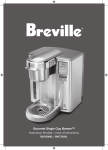 Gourmet Single Cup Brewer™ Instruction Booklet Livret d