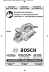 Bosch PL1682 Specifications