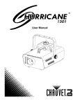 Chauvet Hurricane User manual