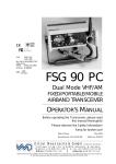 Dittel FSG 90 PC Operator`s manual