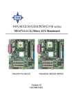 MSI 845GEM Instruction manual