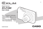 Casio EX-Z1080BK - EXILIM ZOOM Digital Camera User`s guide