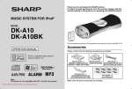Sharp DK-A10BK Operating instructions