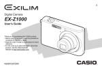 Casio EX Z1000 - EXILIM ZOOM Digital Camera User`s guide