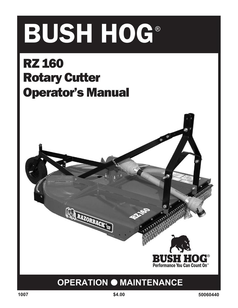 Bush Hog RZ 160 Operator`s manual