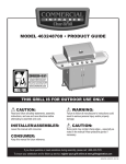 Char-Broil COMMERICAL 463248708 Product guide