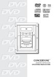 Concertone DVD STEREO RADIO SYSTEM Operating instructions