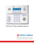 Protect America Simon XT Installation manual