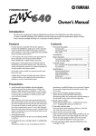 Yamaha 640 Owner`s manual