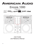 American Audio Encore 1000 User guide