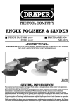 Draper ANGLE POLISHER & SANDER Owner`s manual