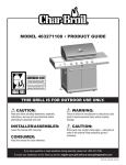Char-Broil 463271108 Product guide