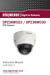 Digimerge DPZ36WO23 Instruction manual