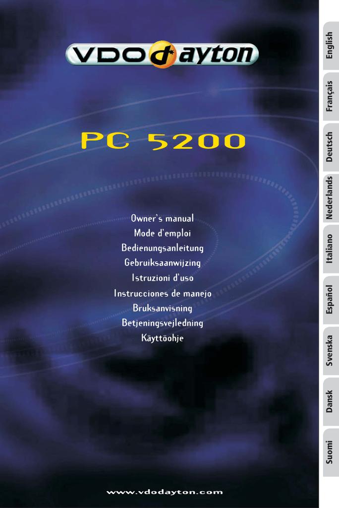 vdo ms 5200 owner s manual rh manualzilla com