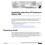 2 Installation of the Cisco IP Conference Station 7935