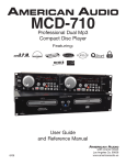 American Audio Q-2422 - AUTRE User guide