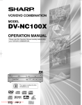 Sharp DV-NC100X Troubleshooting guide