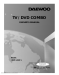 Daewoo DDT-14H9 S Owner`s manual