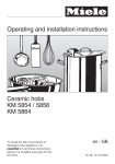 Operating and installation instructions Ceramic hobs KM