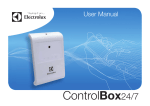 Electrolux ControlBox24/7 User manual