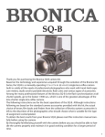 Zenza Bronica GS-1 Instruction manual
