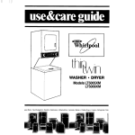 Whirlpool LT5009XM Operating instructions