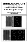 Maytag Jenn-Air Two-Element Cooktop Specifications