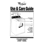 Whirlpool 8400 Series Operating instructions