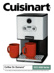Cuisinart DCC 2000 - Coffee-on-Demand Programmable Coffeemaker Specifications