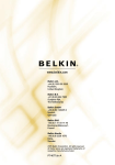 Belkin 4x4 USB Peripheral Switch User manual