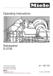 Miele G 2732 Operating instructions