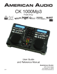 American Audio CK-1000 MP3 User guide