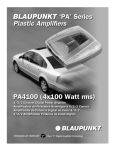 Blaupunkt PA4100 Specifications