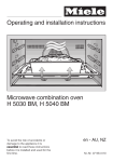 Miele Microwave Oven Operating instructions