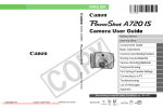 Canon PowerShot A 720 IS User guide