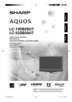 Sharp AQUOS LC-19SB28UT Operating instructions
