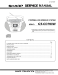 Sharp QT-CD700W Service manual