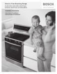 Bosch Electric Free-Standing Range Cuisinire amovible Specifications