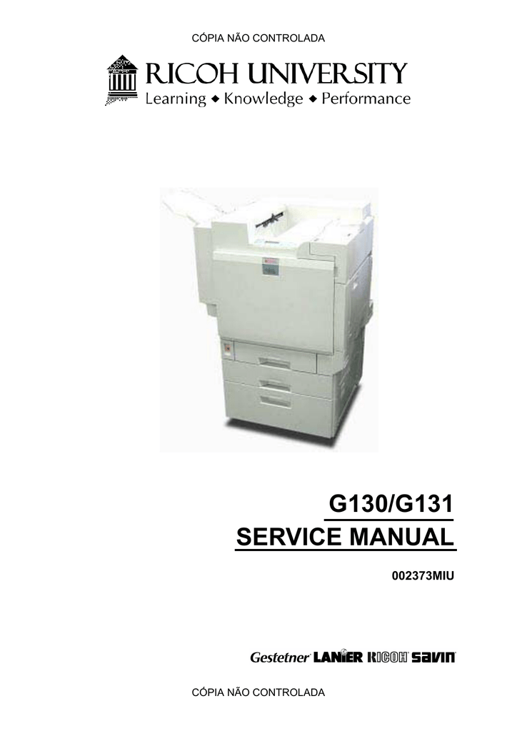 Ricoh Aficio LP332c Service manual