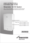 Worcester GREENSTAR i SYSTEM Instruction manual