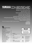 Yamaha 480 Owner`s manual
