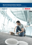 the Bosch Public Address Catalogue here