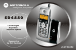 Motorola SD4550 User guide