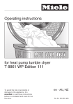 Miele T 8861 WP Edition 111 Operating instructions