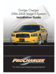 Dodge 2006 LX Charger Installation guide